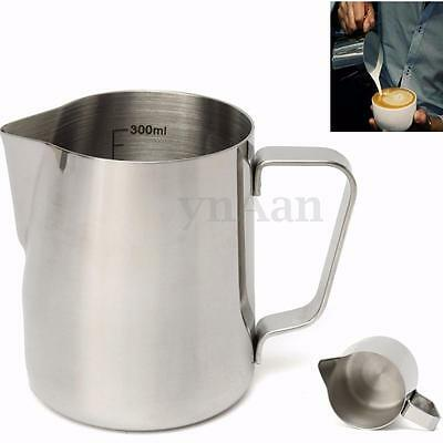 350ML Stainless Steel Coffee Milk Frothing Jug With Tick Mark measuring Latte