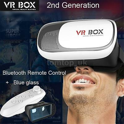 3D VR Box Virtual Reality Glasses Goggles Helmet Headset + Remote for iPhone