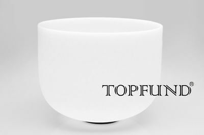 TOPFUND® Frosted B Crown Chakra Quartz Crystal Singing Bowl 30 cm