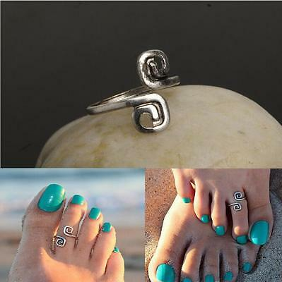 2 Pcs Foot Jewelry Women Adjustable Celebrity Simple Toe Ring Fashion Beach
