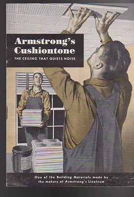 Armstrong's Cushiontone Ceiling that Quiets Noise 1949 Booklet
