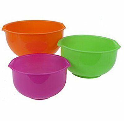 Space Saving Nested Non Slip Mixing Bowls - Pack of 3