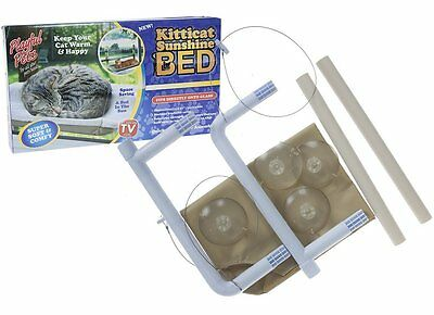 Cat Window Mounted Sunshine Bed With Suction Cups