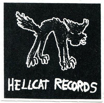HELLCAT RECORDS cat logo CLOTH PATCH sew-on *Free Shipping* rancid label punk