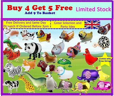 Walking Animal Pet Helium Balloons Ideal For Kids Parties Fun Events Children