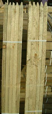 20 x 1.5m (5ft) 32mm SQUARE & POINTED PRESSURE TREATED TREE SHELTER STAKES POSTS
