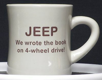 JEEP We Write the Book on 4-wheel drive!  on a 10 oz. Diner Mug - - AMC - Willys