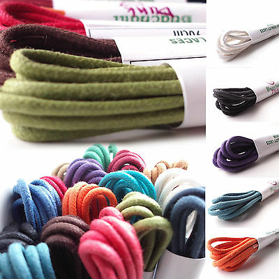 Waxed Cotton Thin Round Shoelaces 2.5mm 60cm 75cm 90cm 100cm Waxy Shoe Laces