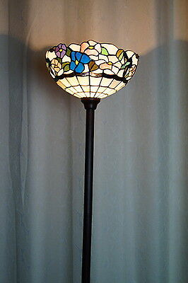 New Arrivals @ Floral Leadlight Stained Glass  Tiffany  Floor Torchiere Lamp