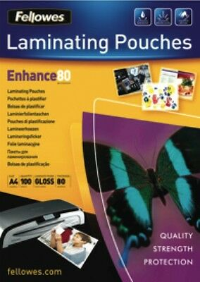 NEW Fellowes 5306101 100pk A4 Laminating Pouches