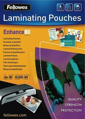 NEW Fellowes 5441205 50pk A4 Laminating Pouches