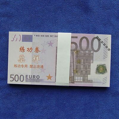 500 Euro Notes Training Collect Learning Banknotes 100pcs Paper Money
