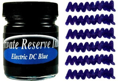 PRIVATE RESERVE - Fountain Pen Ink Bottle - ELECTRIC DC BLUE -  66ml - New