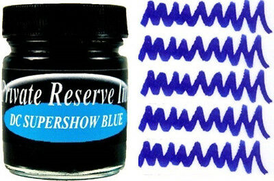 PRIVATE RESERVE - Fountain Pen Ink Bottle - DC SUPERSHOW BLUE - 66ml - New