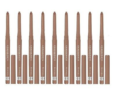 9X Rimmel Exaggerate Full Colour Lip Liner 030 Natural New Lot Of 9 Liners