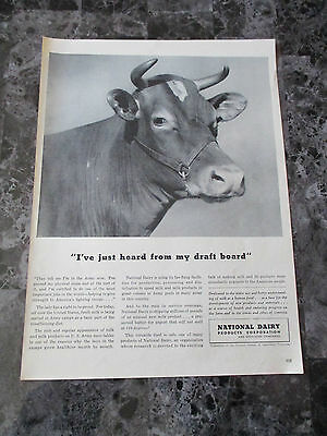 "Vintage 1942 National Dairy Products Corporation Print Ad, 13.875"" X 10.125"""