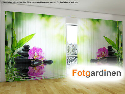 fotogardinen orchidee vorhang mit motiv 3d fotodruck fotovorhang auf ma eur 75 40. Black Bedroom Furniture Sets. Home Design Ideas