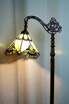 2016 new arrivals@Gorgeous Baroque Stained Glass Bridge Arm Tiffany Floor Lamp