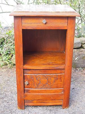 Very Pretty Antique Art Deco French Pot Cupboard/Bedside Cabinet With Marble Top