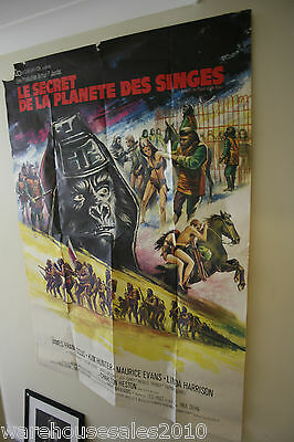 RARE Large Retro Planet of the Apes 1969 Film Poster