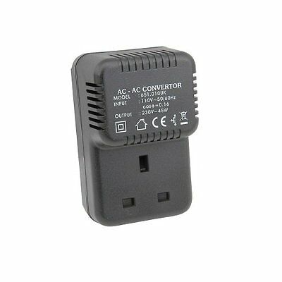 Step Up Voltage Converter 110V 220V 45Va Us To Uk Plug Small Plug-In Converter