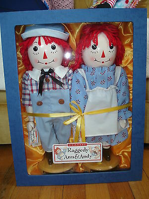 Classic Raggedy Ann & Andy Collector Wooden Nutcracker Set By Sterling & Camille