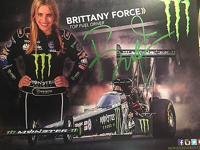 Signed Brittany Force autographed 8x10 photo  NHRA