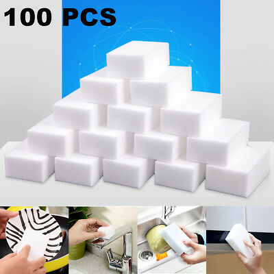 100pcs/lot Thickness Magic Foam Melamine Cleaning Eraser Sponges 90 x 60 x 30mm
