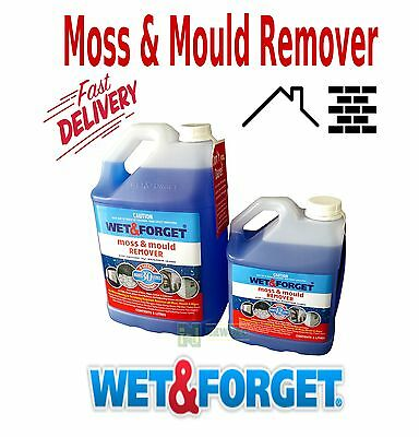 Wet And Forget 2 Or 5 Litre Algae Moss Mildue Mould Removal Concentrate Spray