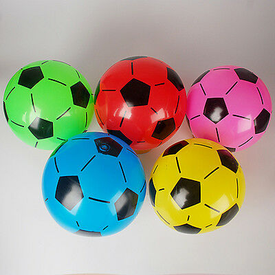 1x Inflatable Football Beach Swimming Pool Ball Holiday Party Game Kids Toy Gift