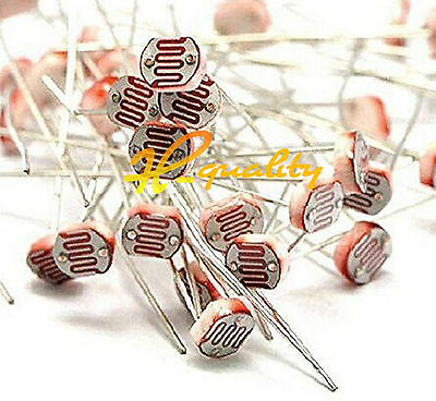 100PCS Photo Light Sensitive Resistor Photoresistor Optoresistor 5mm GL5549