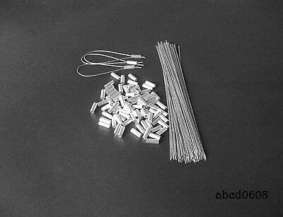100 Al Ferrules Security Lead Seals Wire Taxi Electric Meter Uk Stock Delivery