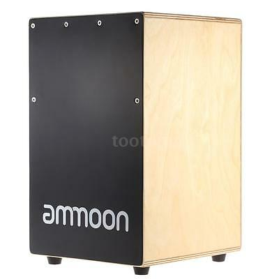 ammoon Wooden Cajon Hand Drum Children Box Drum with Stings Rubber Feet U6R0