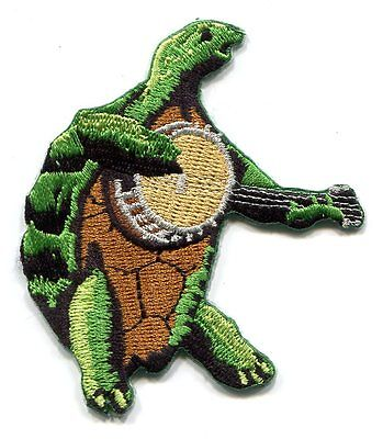 GRATEFUL DEAD turtle with banjo EMBROIDERED IRON-ON PATCH **Free Shipping** 1196