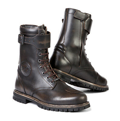 Stylmartin Rocket Brown Motorcycle Motorbike Cafe Racer Leather Boots All Sizes
