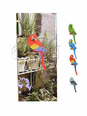 Budgie Parrot Ornament Sculpture Indoor Outdoor Garden Decor