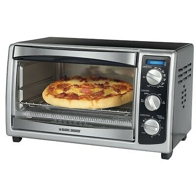 Black & Decker 6 Slice Toaster and Convection Oven Stainless Steal Black