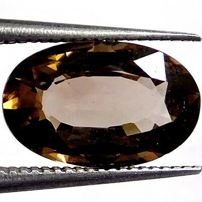 NATURAL UNCOMMON BROWN ZIRCON LOOSE GEMSTONE (11.5 x 7.4 mm) LARGE OVAL CUT