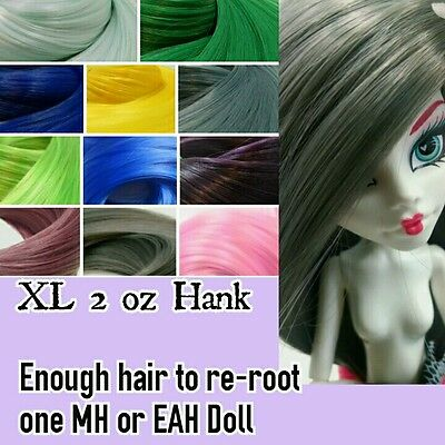 XL 2oz NEW 11 Colors Nylon Reroot Hair Hank for Monster High & Ever After Doll