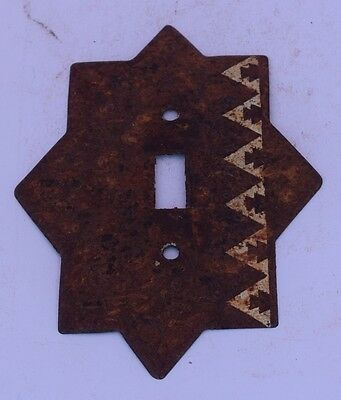 Aztec New Mexican Light Switch Cover Single Lot of 3 Metal Patina Southwestern