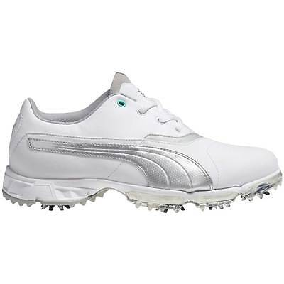 New Puma Women's BioPro Golf Shoes White/Silver - NIB