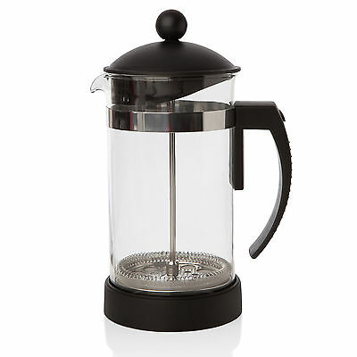 New,Sabichi Frenc Filter Coffee Maker Glass Cafetiere Press Plunger Black 172990