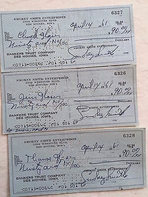 TOMPALL GLASER And The Glaser Brothers Signed Checks