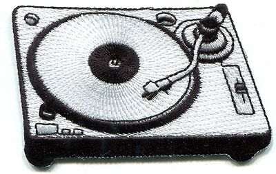 TURNTABLE dj record player Embroidered Iron On PATCH **Free Shipping** lp vinyl