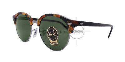 RAY BAN CLUBROUND RB4246 1157 51 Tortoise & Black / Green Classic G-15