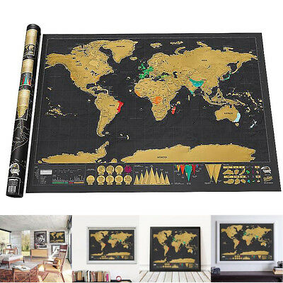 New Travel Cool Personalized Log Gift Scratch Off World Map Creative Poster Hot
