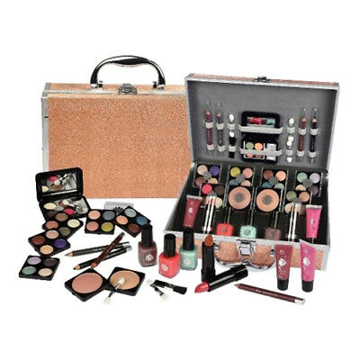 42-tlg Schminkset Alu Schminkkoffer Make up Set Gold