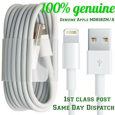 Genuine USB Lightening Sync Charger Data Cable For iPhone 5 5S 6 iPad 4 Air