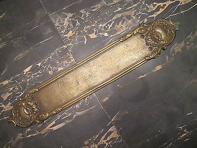 Antique Door Push old architectural door hardware ornate detailing brass bronze