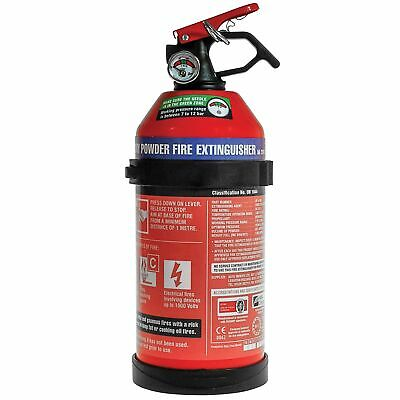 E-Tech Engineering 1kg Dry Powder Fire Extinguisher For Car/Van/Track Day